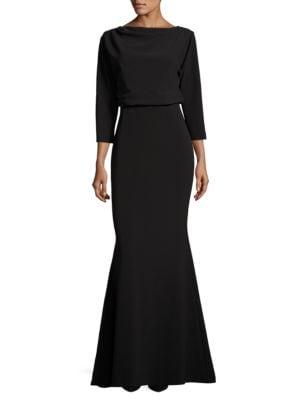 Solid Zippered Dress by Badgley Mischka Platinum