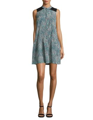 Printed Dropped-Waist Dress by Cynthia Steffe
