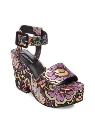 Bazaar Brocade Wedge Sandals by Design Lab Lord & Taylor