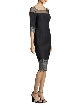 Illusion Scuba Dress by Kay Unger