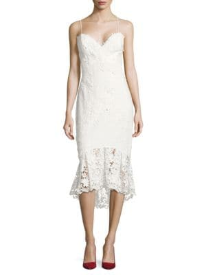 Lace Fit and Flare Dress by Ellen Tracy