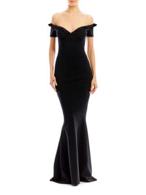 Ruffle Gown by Nicole Miller