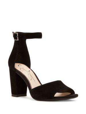 Sherron Suede Block Heel Sandals by Jessica Simpson