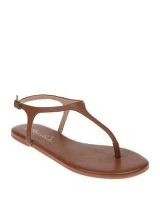 Buckled Solid Thong Sandals by Splendid