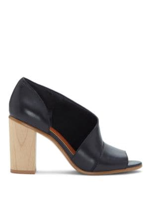 Amble Block Wooden Heel Leather Pumps by 1.STATE