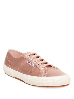 Satin Lace-Up Sneakers by Superga