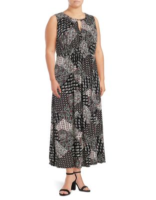 Keyhole Paisley Maxi Dress by Context