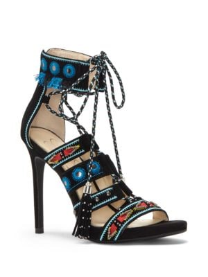 Roona Suede Lace-Up Sandals by Jessica Simpson