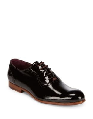 High Leather Oxfords...