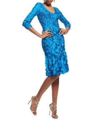 Petal Zip Dress by Theia