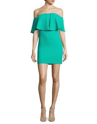Miradora Off-The-Shoulder Mini Dress by Trina Turk
