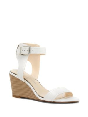 Leather Wedge Sandals by Jessica Simpson