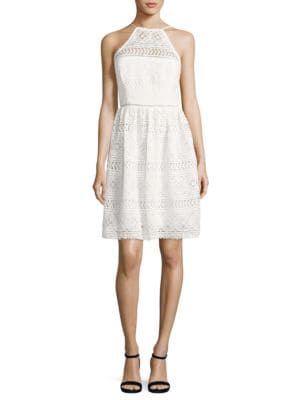 Picnic Lace Halter Dress by Trina Turk