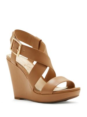 Buy Crisscross-Strap Wedge-Heel Sandals by Jessica Simpson online