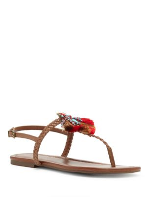 Pom-Pom Thong Sandals by Jessica Simpson