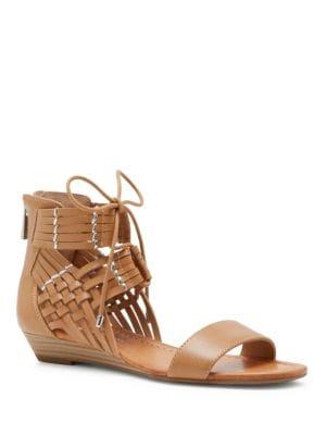 Weave Pattern Open-Toe Sandals by Jessica Simpson