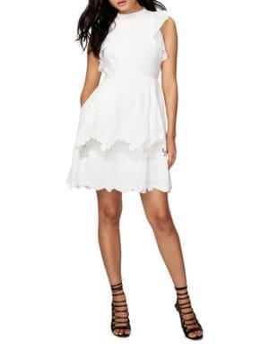Cotton Ruffle Shoulder Dress by RACHEL Rachel Roy