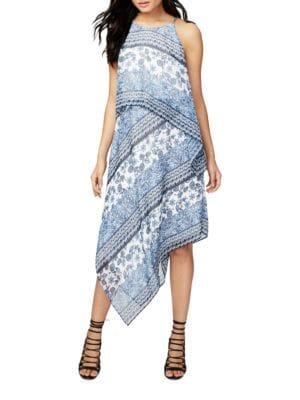 Halter Printed Chiffon Scarf Dress by RACHEL Rachel Roy