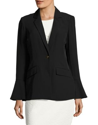 One Button Bell Blazer by Calvin Klein