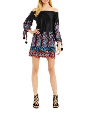 Embroidered Off-the-Shoulder Dress by Nicole Miller New York