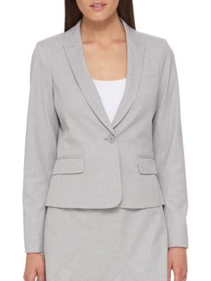Buttoned Open Blazer by Tommy Hilfiger