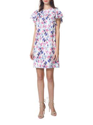 Flutter Floral Dress by Donna Morgan