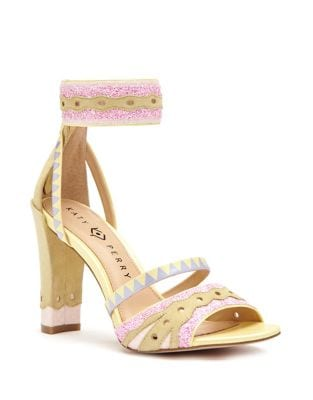 Photo of Kai Suede Patterned Sandals by Katy Perry - shop Katy Perry Shoes, Sandals sales