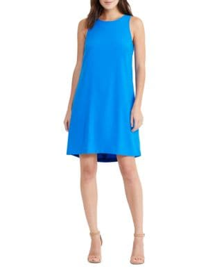 Pleated Shift Dress by Lauren Ralph Lauren