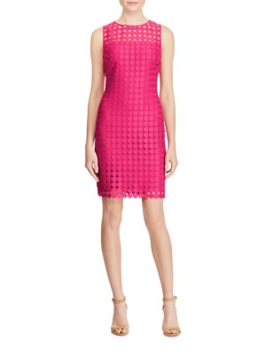 Geometric Lace Sheath Dress by Lauren Ralph Lauren