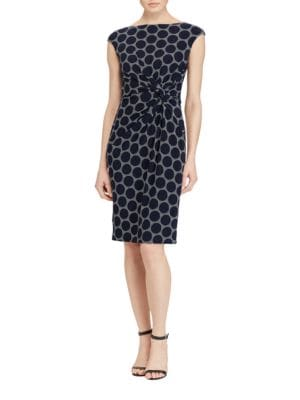 Petite Geometric Twisted Dress by Lauren Ralph Lauren