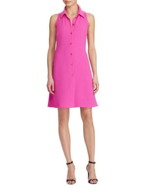 Fit-and-Flare Crepe Dress by Lauren Ralph Lauren
