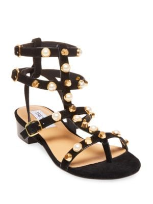 Crowne Wrapped Block-Heel Dress Sandals by Steve Madden