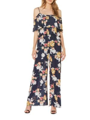 Floral-Print Two Tier Palazzo Jumpsuit by Laundry by Shelli Segal
