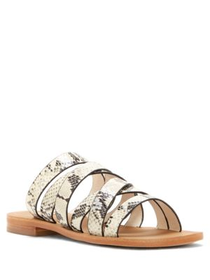 Lo-Braelynn Leather Flat Sandals by Louise et Cie