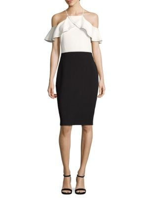 Colorblock Cold-Shoulder Sheath Dress by Laundry by Shelli Segal