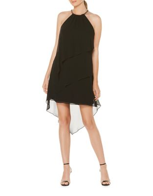 Tiered Chiffon Halter Dress by Laundry by Shelli Segal