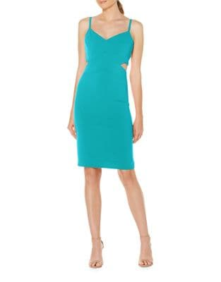 Stretch Crepe Cutout Cocktail Dress by Laundry by Shelli Segal