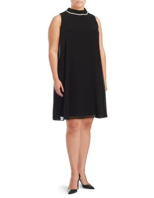 Plus Sleeveless Trapeze Dress by Eliza J