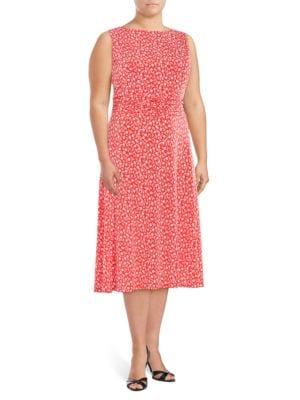 Patterned Midi Dress by Eliza J