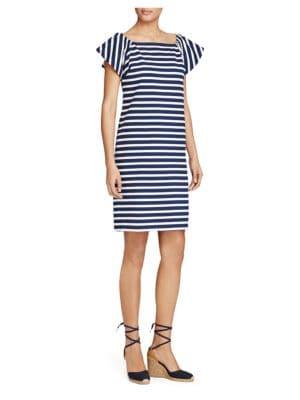 Off-the-Shoulder Striped Dress 500087104986