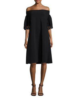 Flare-Sleeve Off Shoulder Dress by La Petite Robe di Chiara Boni