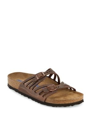 Granada Leather Slip-On Sandals by Birkenstock