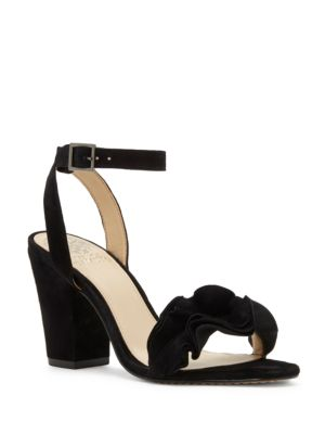 Leather Ruffle Sandals by Vince Camuto