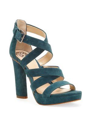 Catyna Velvet Platform Sandals by Vince Camuto