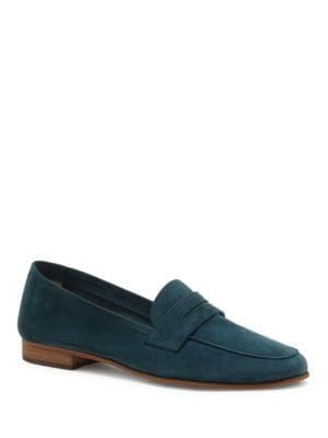 Suede Slip-On Penny Loafers by Vince Camuto
