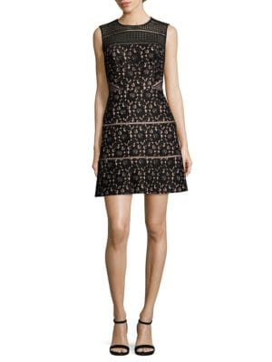 Lace Embroidered Cutout Dress by Aidan Aidan Mattox