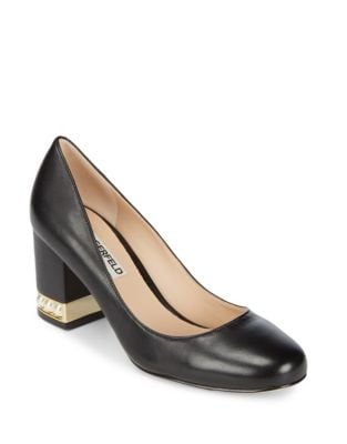 Sally Leather Pump by Karl Lagerfeld Paris
