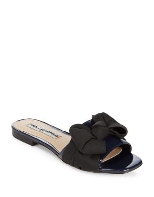 Rosie Bow Accented Sandals by Karl Lagerfeld Paris