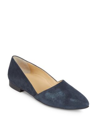 Mimi Suede Point Toe Flats by Paul Green