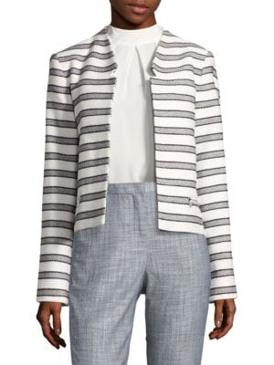 Cropped Knit Blazer by Calvin Klein